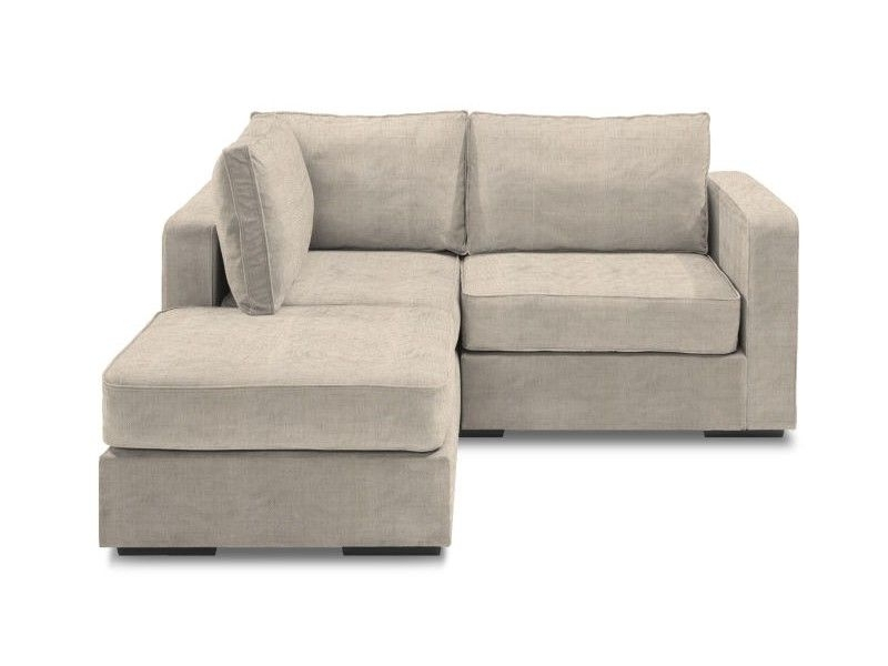 Small Chaise Sectional With Tan Tweed Covers – This Is Exactly Intended For Popular Small Chaise Sofas (View 8 of 15)