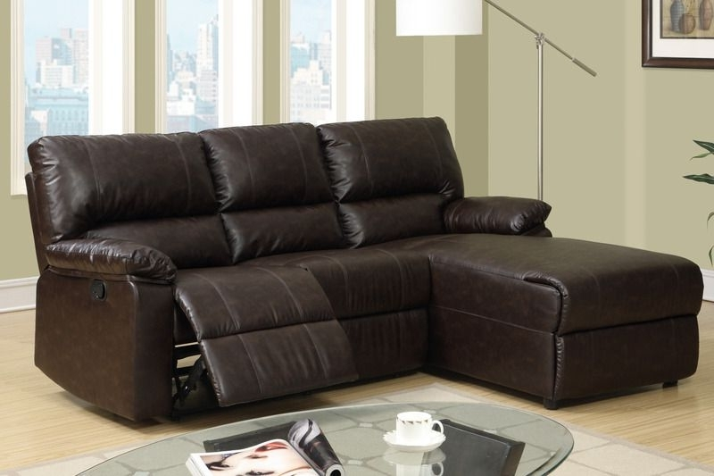 Small Coffee Leather Reclining Sectional Sofa Set Recliner Left Within Most Recent Sectional Sofas With Recliners For Small Spaces (View 8 of 10)