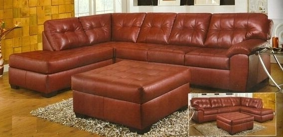 Small Red Leather Sectional Sofa With Ottoman – Gradfly (View 9 of 10)