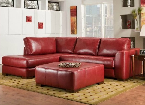 Small Red Leather Sectional Sofas In Trendy Wonderful Modern Red Leather Sectional Sofa With Chair Living (View 6 of 10)