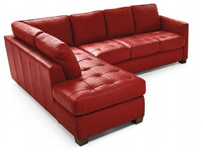 Small Red Leather Sectional Sofas Inside Most Current Natuzzi Italian Leather Sectional Sofa (View 7 of 10)