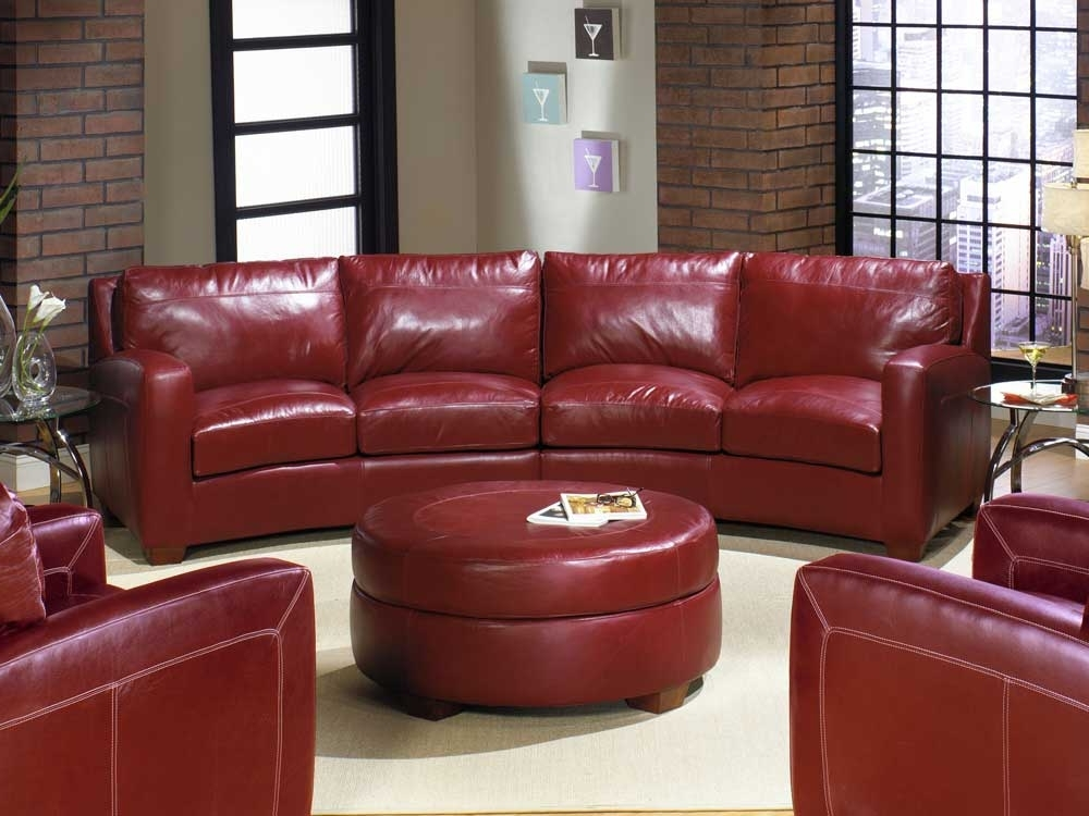 Small Red Leather Sectional Sofas With Regard To Recent Curved Sectional Sofa Ideas — Fabrizio Design : Decorating Living (View 9 of 10)