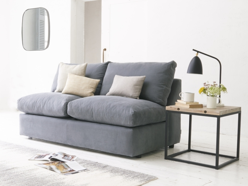 Sofa Armless Sofa Bed Armless Sofa Bed Australia Armless Sofa With Regard To Best And Newest Small Armless Sofas (View 8 of 10)