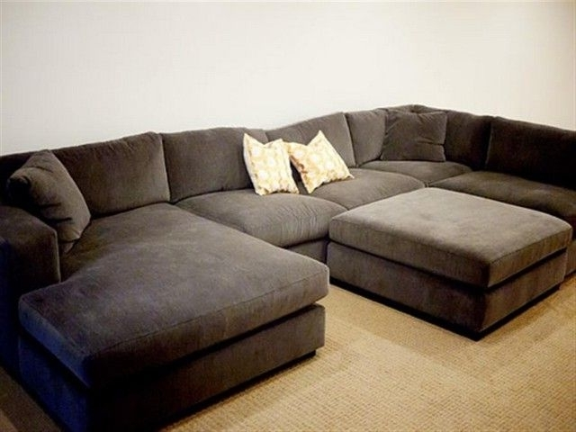 Sofa : Beautiful Large Sectional Sofa With Chaise L Shaped Cream Intended For 2018 Large Sectional Sofas (View 8 of 10)