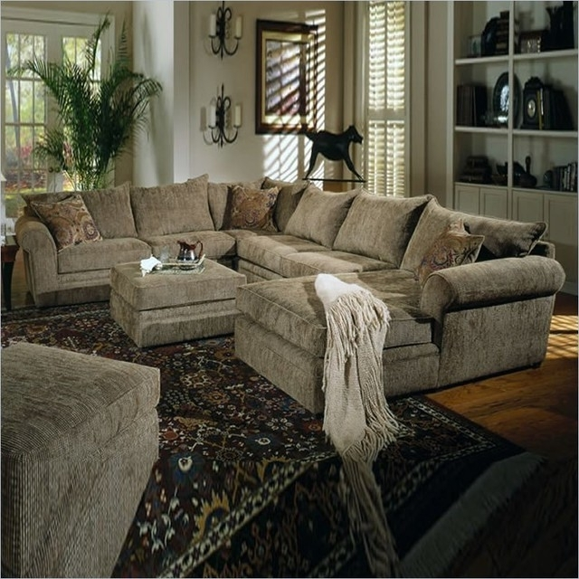 Sofa Beds Design: Outstanding Modern Chenille Sectional Sofa With Within Popular Green Sectional Sofas With Chaise (View 9 of 10)