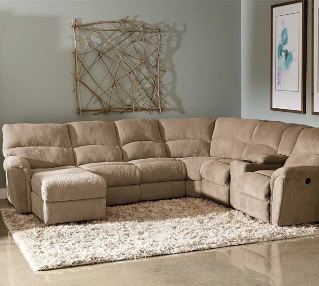 Sofa Beds Design: Popular Traditional Fabric Sectional Sofa With Throughout Trendy Tan Sectionals With Chaise (View 8 of 15)