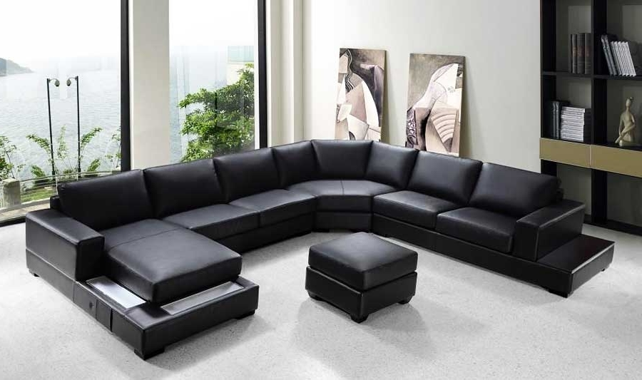 Sofa Beds Design: Wonderful Ancient Black Sectional Sofa With Regarding Well Known Red Black Sectional Sofas (View 10 of 10)