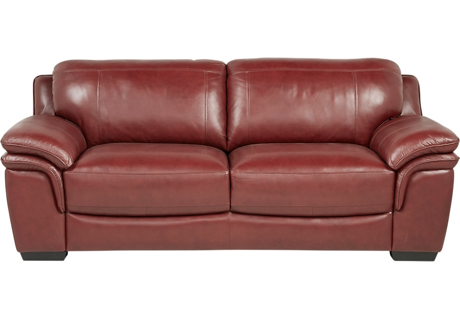 Sofa : Excellent Leather Sofa Chair Lr Sof 14163238 Grandpalazzo With 2017 Red Sofa Chairs (View 8 of 10)