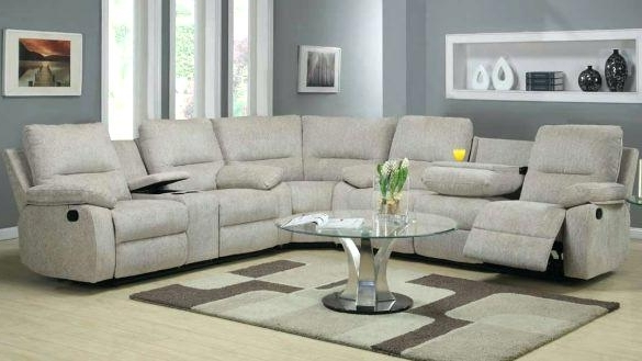 Sofa Recliners With Cup Holders Sectional Sofas With Recliners And Within Favorite Sectional Sofas With Recliners (View 6 of 10)