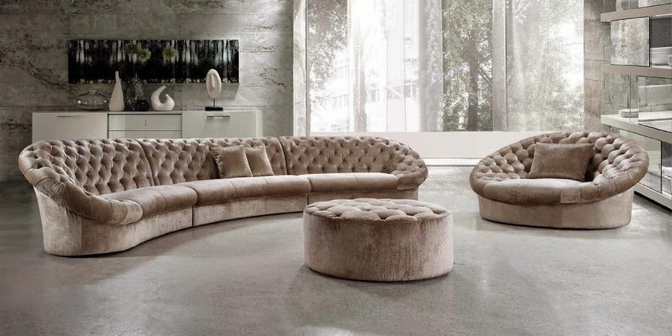Sofa : Round Sofa Couch 3 Piece Curved Sectional Sofa Red Curved In Most Popular Round Sectional Sofas (View 10 of 10)