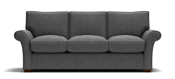 Sofa With Navy Tweed Fabric (View 6 of 10)