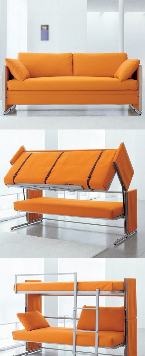 Sofas That Turn Into Bunk Beds – Smart Furniture In Most Up To Date Sofa Bunk Beds (View 6 of 10)