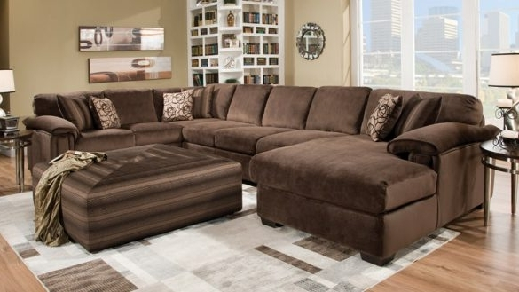Sofas With Large Ottoman Intended For Famous Large Sectional Sofa With Ottoman Living Room (View 8 of 10)