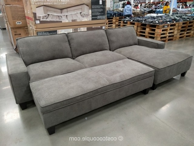 Sofas With Ottoman Intended For Widely Used Sectional Sofa Design: Elegant Sectional Sofa With Chaise Costco (View 9 of 10)