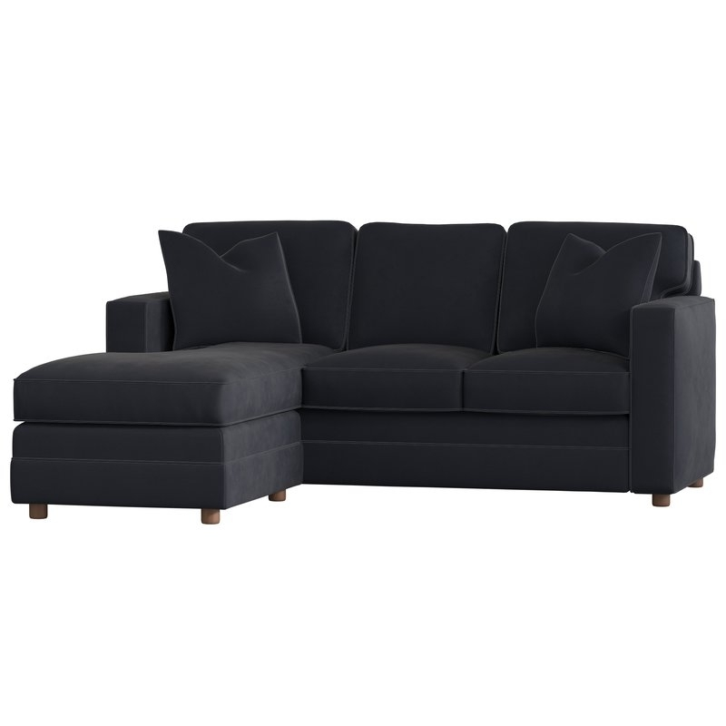 Sofas With Reversible Chaise Lounge Within Best And Newest Wayfair Custom Upholstery™ Andrew Reversible Sectional & Reviews (View 14 of 15)
