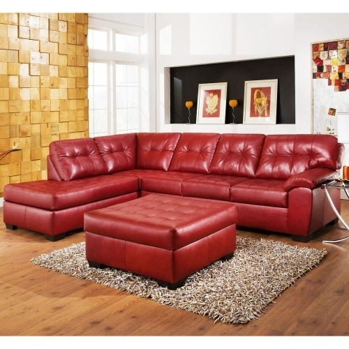 Soho Red – Sectional Sofas Dallas Photo: This Photo Was Uploaded Throughout Favorite Red Leather Sectional Couches (View 9 of 10)
