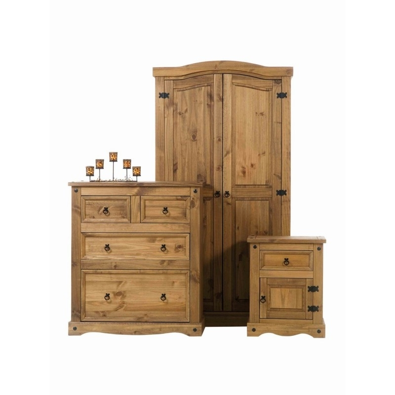 Solid, Oak, Pine Wood Bedroom, Living, Dining, Childrens Room Pertaining To Favorite Wardrobes And Chest Of Drawers Combined (View 11 of 15)