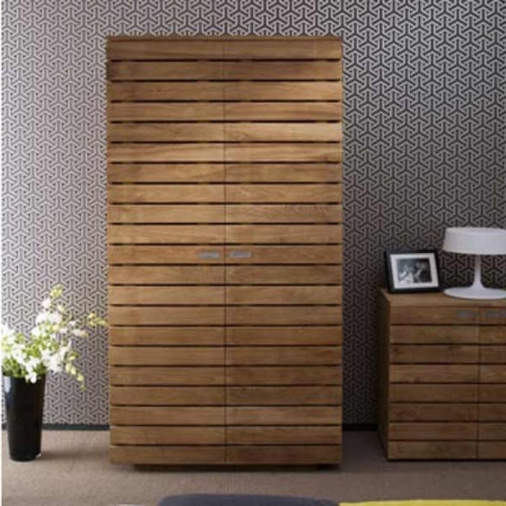 Solid Wood Wardrobe Closet With Drawers 3 Door Sliding Doors Intended For Preferred Cheap Wooden Wardrobes (View 10 of 15)