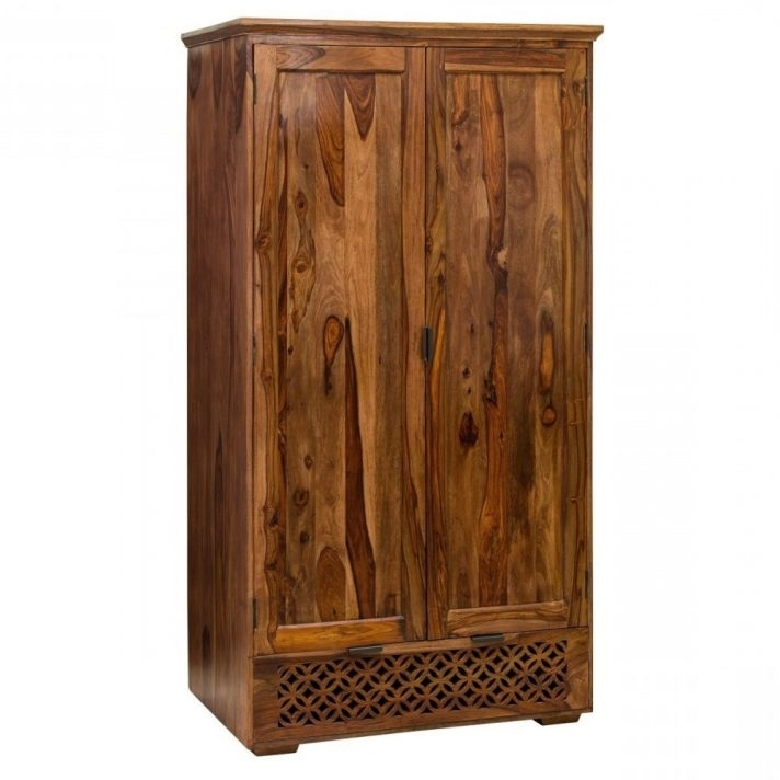 Solid Wood Wardrobe With Drawers Fitted Wardrobes Sliding Doors Inside Famous Dark Wood Wardrobes With Drawers (View 5 of 15)