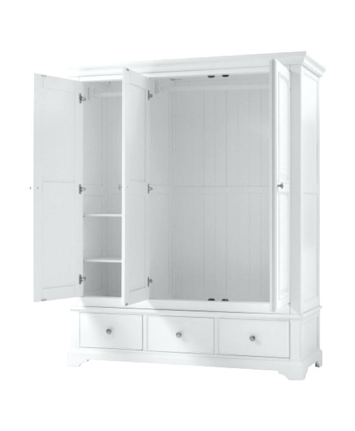 Sophia Wardrobes In Most Up To Date White Triple Wardrobe With Shelves White Triple Wardrobes Uk White (View 13 of 15)