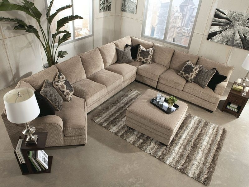 Sorento 5Pcs Oversized Modern Beige Fabric Sofa Couch Sectional Pertaining  To Preferred Oversized Sectional Sofas (