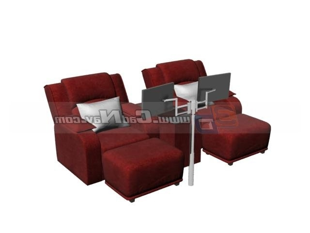 Spa Foot Bath Massage Chairs 3d Model 3dmax Files Free Download Regarding Recent Foot Massage Sofas (View 9 of 10)