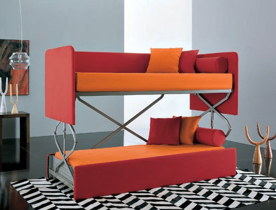 Space Saving Sleepers: Sofas Convert To Bunk Beds In Seconds With Favorite Sofa Bunk Beds (View 2 of 10)