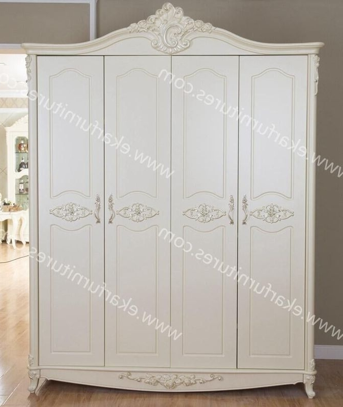 Spain Style Vintage Carved Bedroom Wardrobe Designs 602 6 With Current Vintage Style Wardrobes (View 7 of 15)