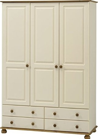 Steens Richmond 3 Door Wardrobe, Cream: Amazon.co (View 13 of 15)