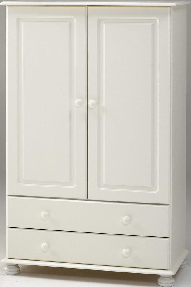 Steens Richmond White Low Combi Kids Mini Wardrobe Metal Drawer With Fashionable Small Tallboy Wardrobes (View 13 of 15)