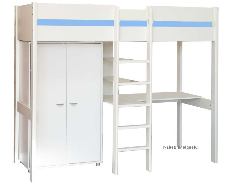 Stompa Uno 7 High Sleeper Bed With Wardrobe, Shelves, Desk Inside Favorite Stompa Wardrobes (View 7 of 15)