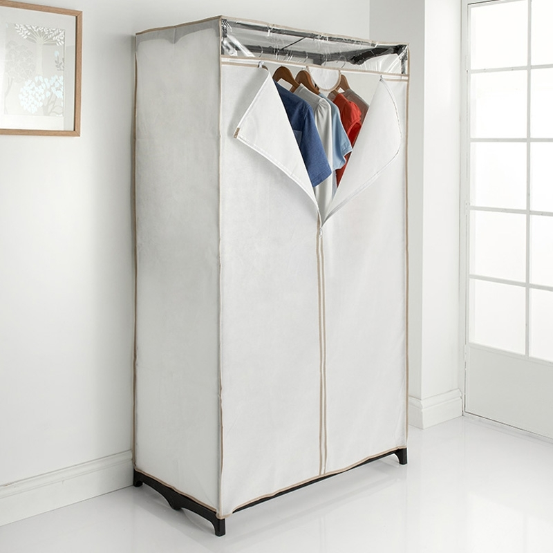 Storage, Bedroom Furniture – B&m Stores Throughout Double Rail Canvas Wardrobes (View 12 of 15)