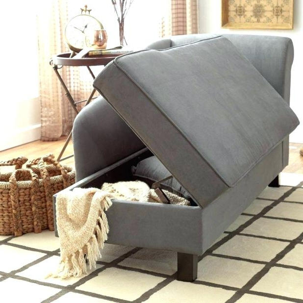 Storage Chaise Lounge Furniture Simple Living Storage Chaise Regarding 2017 Chaise Lounges With Storage (View 11 of 15)
