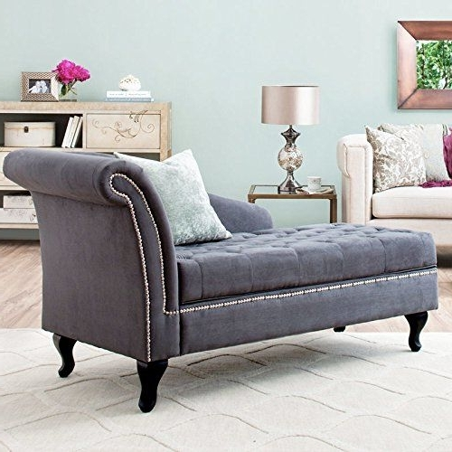 Superb Storage Chaise Lounge Luxurious Tufted Classic/traditional Style In Most  Recently Released Chaise Lounge Chairs