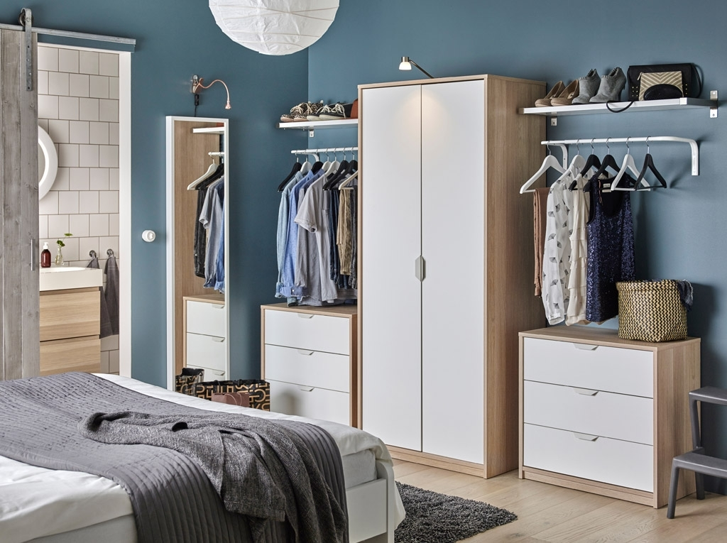 Storage That Fits Neatly Into Your Bedroom And Your Budget – Ikea Pertaining To Most Recently Released Wardrobes And Chest Of Drawers Combined (View 12 of 15)