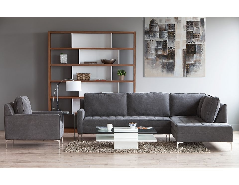 Structube – Living Room : Sectional Sofas : Miami (Charcoal) Looks Inside Most Recent Miami Sectional Sofas (View 7 of 10)