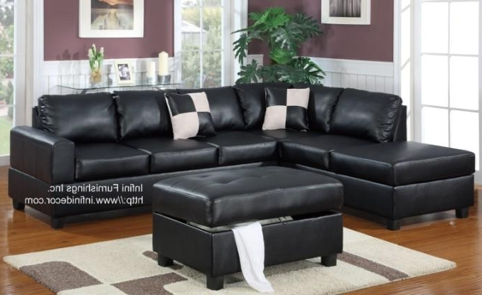 Stylish Black Sectional Leather Sofa Furniture Black Top Grain Pertaining To Most Recent Black Leather Sectionals With Chaise (View 14 of 15)