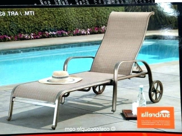 Sunbrella Chaise Lounge Chairs Chaise Lounge Chairs Sling In Latest Chaise Lounge Chairs At Costco (View 11 of 15)