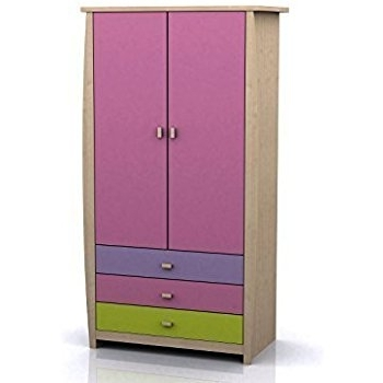 Sydney 2 Door 3 Drawer Wardrobe – Pink Or Blue Childrens Furniture With Most Recently Released Childrens Pink Wardrobes (View 13 of 15)