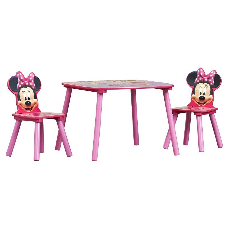 Table Chaise Minnie Minnie Mouse Kids 3 Piece Table And Chair Set In 2018 Kids Chaises (View 14 of 15)