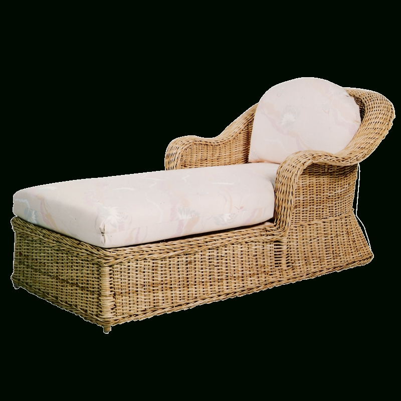Tampa Wicker Chaise Lounge With Well Known Wicker Chaise Lounge Chairs (View 2 of 15)