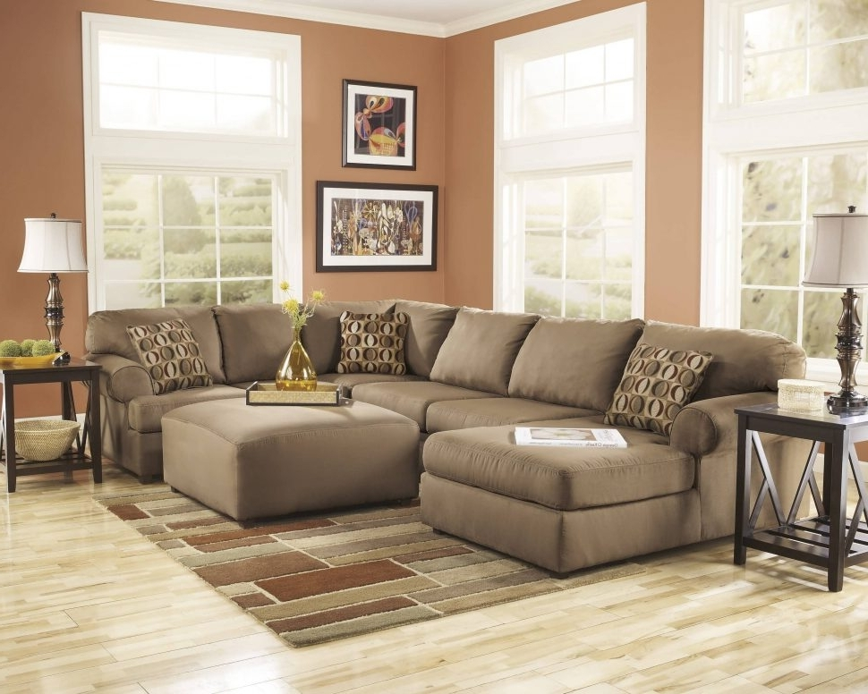 Tan Sectionals With Chaise Throughout 2017 Sofa : Oversized Sectionals Brown Leather Sectional Cheap (View 10 of 15)