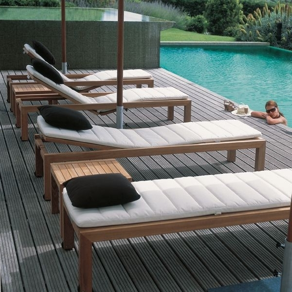 Teak Outdoor Chaise Lounge – Contemporary – Patio – Chicago – Pertaining To Widely Used Hardwood Chaise Lounge Chairs (View 11 of 15)