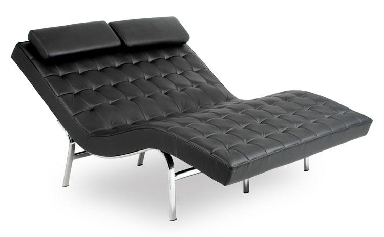 Terrific Leather Chaise Lounge Chair Leather Chaise Lounge Chair Regarding Best And Newest Leather Chaise Lounge Chairs (View 14 of 15)