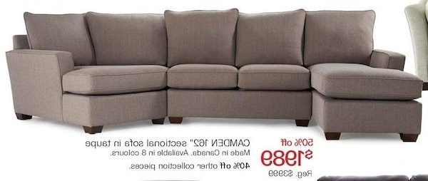 "The Bay Sectional Sofas Inside Most Current The Bay: Camden 162"" Sectional Sofa In Taupe – Redflagdeals (View 7 of 10)"