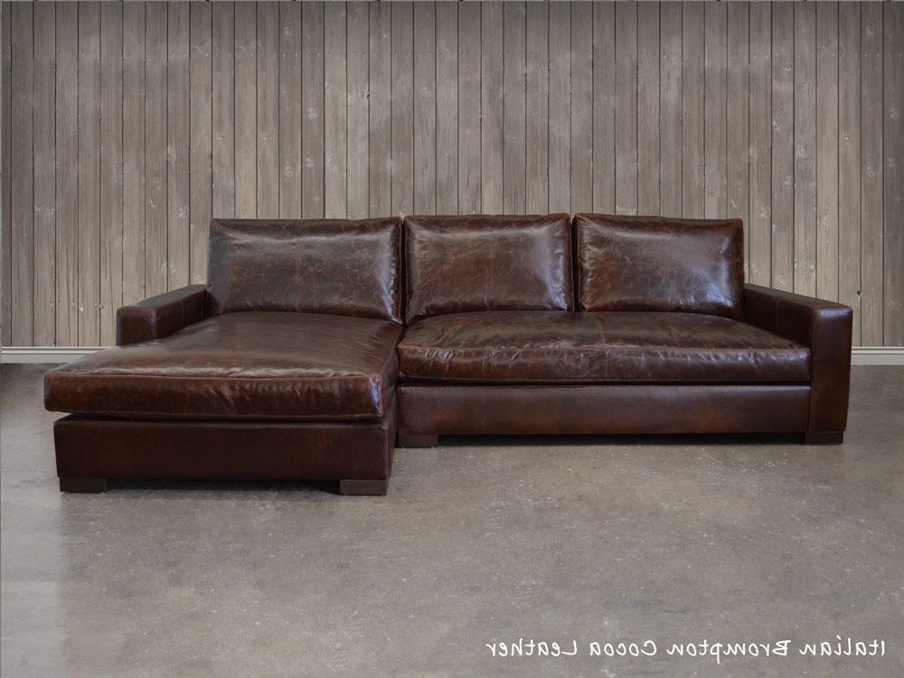 The Braxton Leather Sofa Chaise Sectional (shown Here In Italian With Regard To 2017 Braxton Sectional Sofas (View 6 of 10)