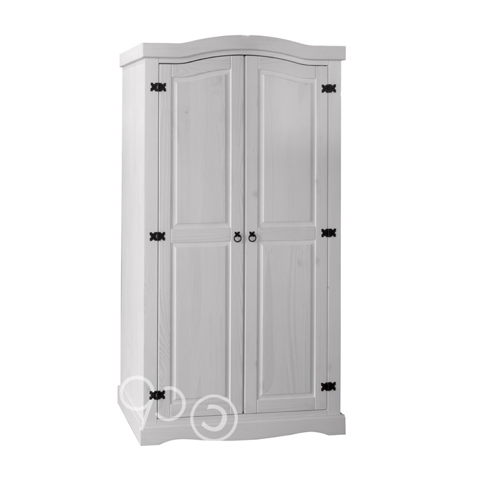 The Corona White Washed 2 Door Wardrobecore Furniture In 2017 Whitewash Wardrobes (View 7 of 15)