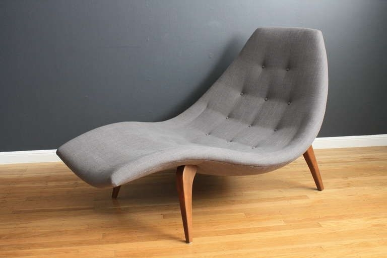 This Is A Mid Century Modern Chaise Lounge Chair In The Style Of In Famous Mid Century Modern Chaise Lounges (View 4 of 15)