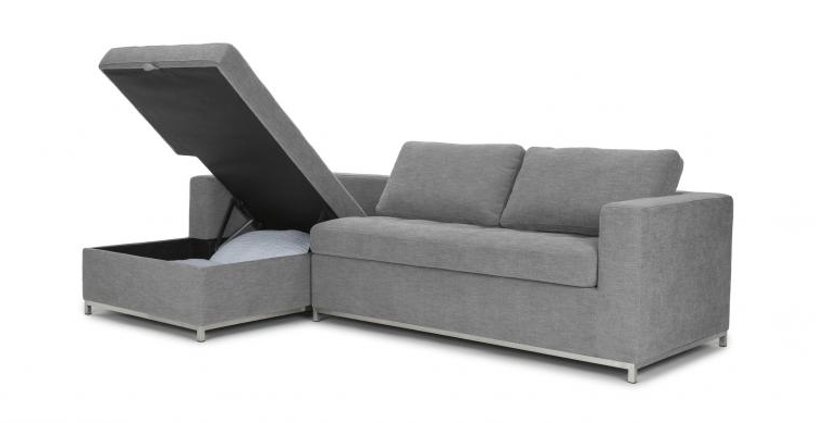 This Sofa Bed Has A Chaise Lounger That Pulls Up For A Storage Area Pertaining To Most Popular Sofa Beds With Chaise (View 14 of 15)