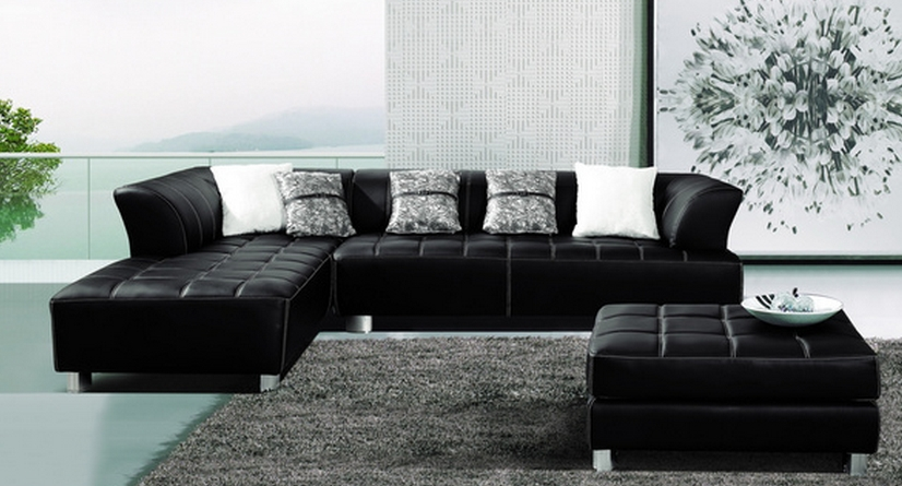 Top 7 Dark Leather Sectional Sofas – Cute Furniture Within Well Liked Leather Sectionals With Chaise And Ottoman (View 8 of 10)